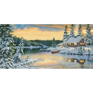 """SunsOut (51546) - Persis Clayton Weirs: """"Cabin on the River"""" - 1000 piezas"""
