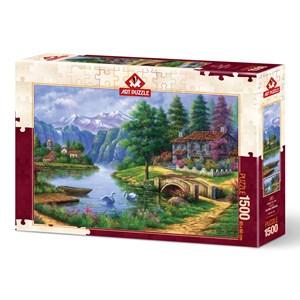 "Art Puzzle (5371) - ""Lake Village"" - 1500 piezas"