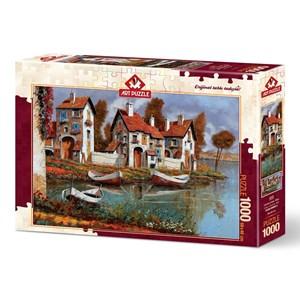 """Art Puzzle (4232) - """"Case a Cerchio, Italy"""" - 1000 piezas"""