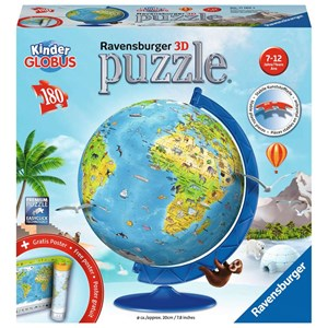 "Ravensburger (11160) - ""Children's Globe in German"" - 180 piezas"