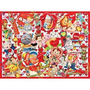 "SunsOut (35147) - Lori Schory: ""Valentine Card Collage"" - 300 piezas"
