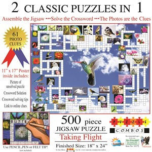 "SunsOut (10172) - Irv Brechner: ""Puzzle Combo, Taking Flight"" - 500 piezas"