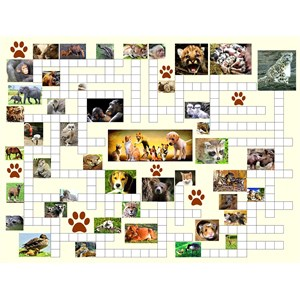 "SunsOut (10160) - Irv Brechner: ""Puzzle Combo, Animal Nursery"" - 500 piezas"