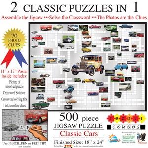 "SunsOut (10166) - Irv Brechner: ""Puzzle Combo, Classic Cars"" - 500 piezas"