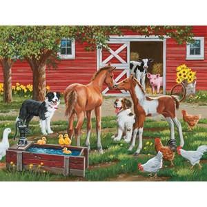 "SunsOut (30410) - William Vanderdasson: ""Welcome the New Pony"" - 300 piezas"