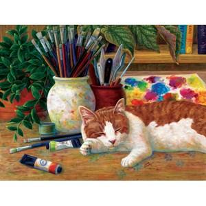 "SunsOut (31613) - Linda Elliott: ""Painter's Helper"" - 500 piezas"