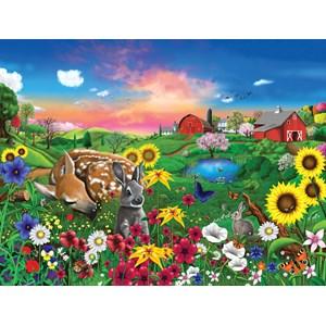 "SunsOut (60940) - Gerald Newton: ""Peaceful Pastures"" - 300 piezas"