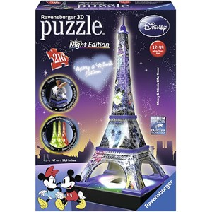"Ravensburger (12520) - ""Disney Eiffel Tower"" - 216 piezas"