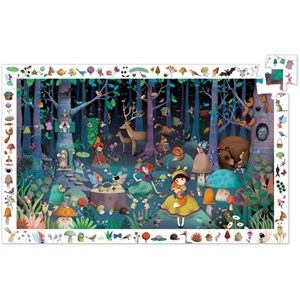 """Djeco (07504) - """"Observation Puzzle, Enchanted Forest"""" - 100 piezas"""