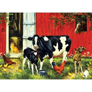 "SunsOut (52624) - Linda Picken: ""Old MacDonald's Farm"" - 500 piezas"