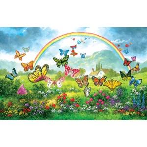 "SunsOut (48317) - Dennis Lewan: ""Butterfly Holiday"" - 550 piezas"