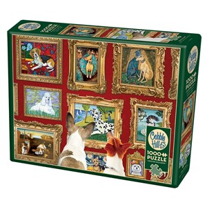 """Cobble Hill (80014) - Gretchen Serrano: """"Dog Gallery"""" - 1000 piezas"""