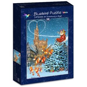 """Bluebird Puzzle (70405) - François Ruyer: """"Cathédrale de Strasbourg à Noël"""" - 100 piezas"""