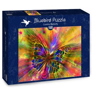 """Bluebird Puzzle (70050) - """"Colorful Butterfly"""" - 1500 piezas"""