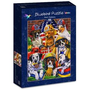 "Bluebird Puzzle (70394) - Jenny Newland: ""Hero Helpers"" - 100 piezas"