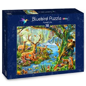 "Bluebird Puzzle (70385) - Adrian Chesterman: ""Forest Life"" - 260 piezas"