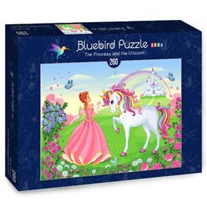 "Bluebird Puzzle (70376) - Olena Piatenko: ""The Princess and the Unicorn"" - 260 piezas"