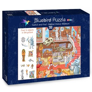 "Bluebird Puzzle (70352) - Lyudmyla Kharlamova: ""Search and Find, Natural History Museum"" - 260 piezas"