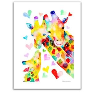 """Pintoo (h2092) - Reina Sato: """"Giraffe Family"""" - 300 piezas"""