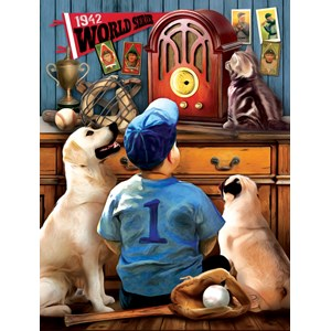 """SunsOut (28853) - Tom Wood: """"Listening to the Game"""" - 300 piezas"""