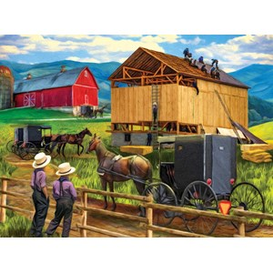 "SunsOut (28910) - Tom Wood: ""Raising the Barn"" - 500 piezas"