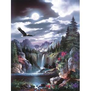 """SunsOut (18005) - James Lee: """"Moonlit Eagle"""" - 300 piezas"""