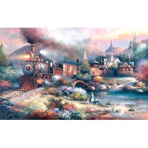 "SunsOut (18008) - James Lee: ""Maryland Mountain Express"" - 300 piezas"