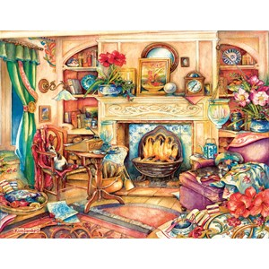 "SunsOut (23447) - Kim Jacobs: ""Fireside Embroidery"" - 1000 piezas"