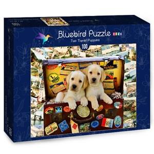 "Bluebird Puzzle (70398) - Greg Cuddiford: ""Two Travel Puppies"" - 100 piezas"