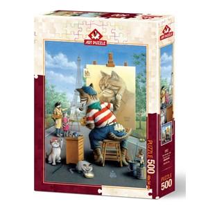 "Art Puzzle (5087) - ""Painter Cat"" - 500 piezas"