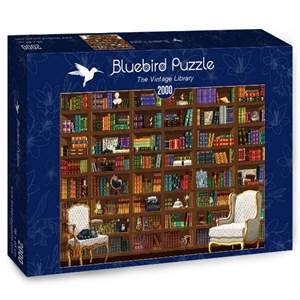 "Bluebird Puzzle (70274) - Matthieu Martin: ""The Vintage Library"" - 2000 piezas"