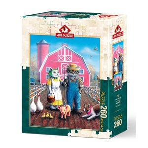 "Art Puzzle (5028) - Don Roth: ""Cat Farm"" - 260 piezas"