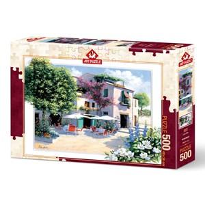 """Art Puzzle (5079) - Peter Motz: """"Cafe Villa"""" - 500 piezas"""