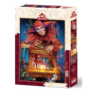 "Art Puzzle (5077) - Ciro Marchetti: ""Masked Puppeteer"" - 500 piezas"