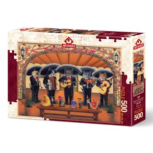 "Art Puzzle (5082) - Don Roth: ""Flamenco Meow Team"" - 500 piezas"