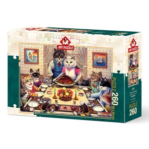 "Art Puzzle (5025) - Don Roth: ""Cat Family"" - 260 piezas"