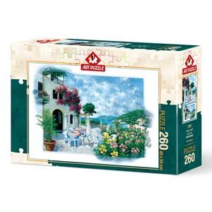 """Art Puzzle (5026) - Peter Motz: """"Beach Cafe"""" - 260 piezas"""