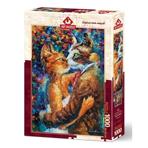 "Art Puzzle (4226) - ""Dance of the Cats in Love"" - 1000 piezas"
