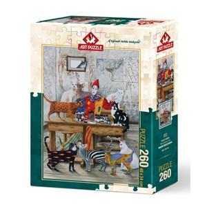 "Art Puzzle (4271) - Marek Brzozowski: ""The Colored Cats"" - 260 piezas"