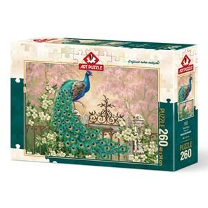"Art Puzzle (4272) - Dona Gelsinger: ""Peacock"" - 260 piezas"