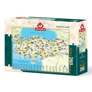 """Art Puzzle (4288) - """"Karte der Türkei"""" - 260 piezas"""