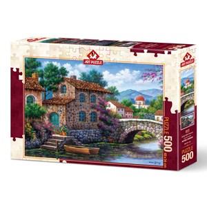 """Art Puzzle (5070) - Arturo Zarraga: """"Flowery Channel"""" - 500 piezas"""