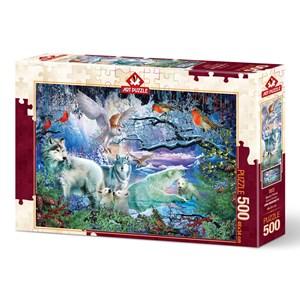"""Art Puzzle (5073) - Ciro Marchetti: """"Glacier Forest"""" - 500 piezas"""