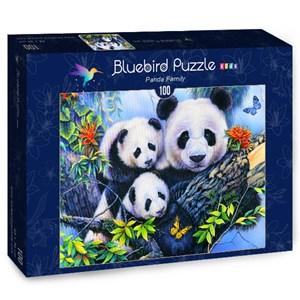 """Bluebird Puzzle (70395) - Jenny Newland: """"Panda Family"""" - 100 piezas"""
