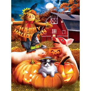 "SunsOut (28810) - Tom Wood: ""Happy Halloween"" - 300 piezas"