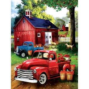 """SunsOut (28716) - Tom Wood: """"Apples for Sale"""" - 300 piezas"""