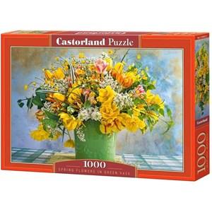 "Castorland (C-104567) - ""Spring Flowers in Green Vase"" - 1000 piezas"