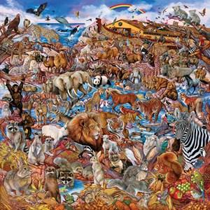"""SunsOut (50082) - """"Noah's Clearing"""" - 500 piezas"""