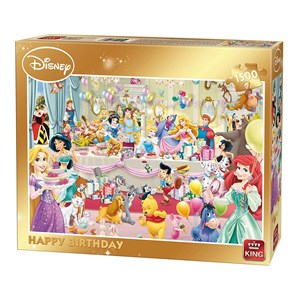 "King International (85523) - ""Disney, Happy Birthday"" - 1500 piezas"