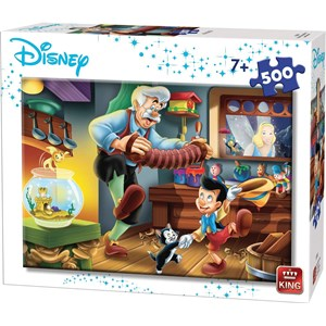 "King International (55915) - ""Disney, Pinocchio"" - 500 piezas"